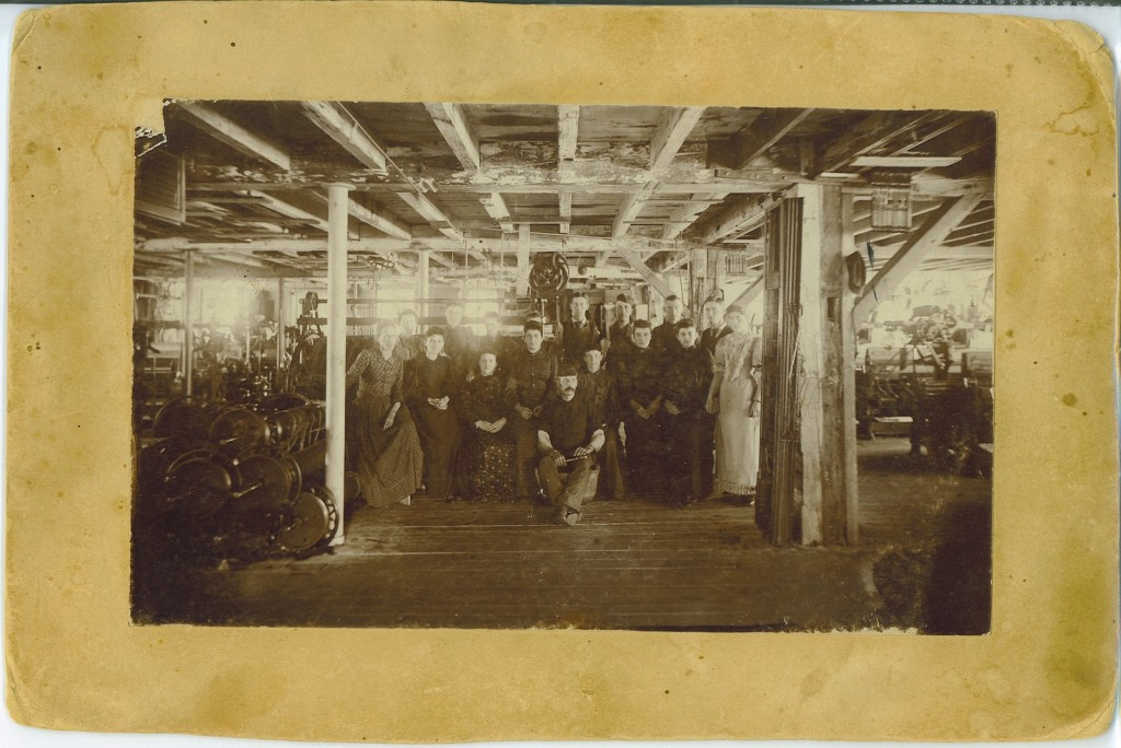 Workers at J.O. Ballard Mill Malone NY