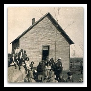 Arbor Day at the Schoolhouse before 1920  Reynoldston New York